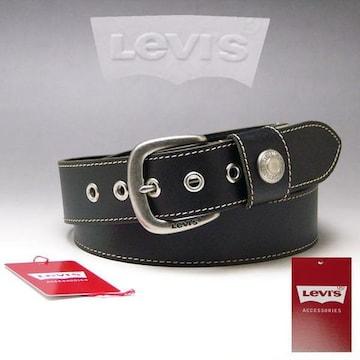 LEVI'S リーバイス 牛革 ベルト 40mm 6091 ブラック 新品