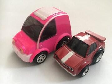チョロQ・日産エスカルゴ、ちびっこ日産スカイラインGT-R。