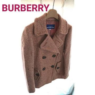 正規 BURBERRY ウール アンゴラ混 コート ジャケット ピンク 38