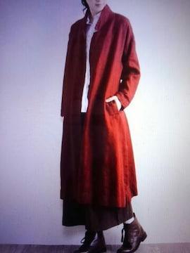 ●tukuroi●SUNVALLEY染色リネン ロングカーデ新品10584円レッド