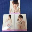 AKB48 小笠原茉由 2016.March 生写真 3枚セット NMB48