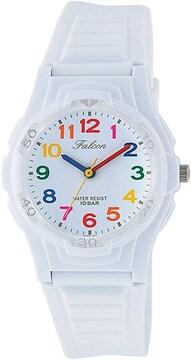 【目立ちます!】オシャレでカラフルな腕時計☆ホワイト
