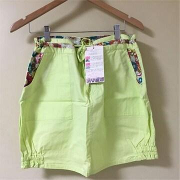 新品 定価2490円 チチカカ ミニ スカート 黄 イエロー L