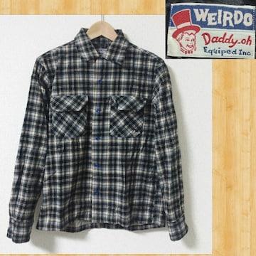 WEIRDO ウィアード チェックシャツ S 眼鏡 GLAD HAND 美品
