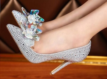新品シンデレラ ガラスの靴 パンプス