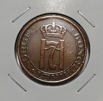 外国古銭 ノルウェー 1930年 5オーレ