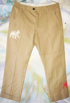 Jah Lion クロップド チノ パンツ レゲエ ライオン レア