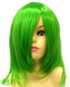 即納可能★即決★フルウィッグ ショート 緑/グリーン L3