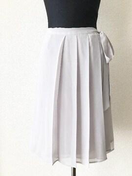 [INED]★ライトグレーカラー・プリーツスカート・サイズ[7]★
