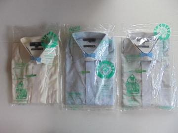ワイシャツビジネスフォーマル礼服喪服長袖ワイドカラー無地LLX3