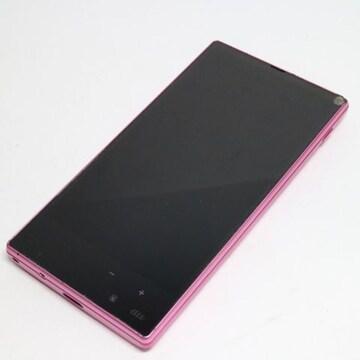 ●良品中古●au SHL24 AQUOS PHONE SERIE mini ピンク●