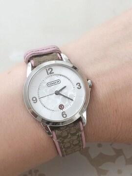 T106 COACH コーチ 腕時計 ミニシグネチャー レディース ピンク