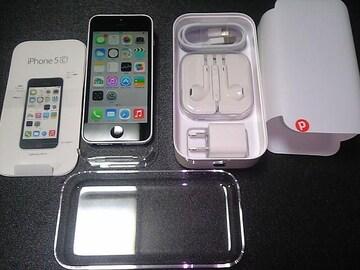 * iPhone 5c *  ホワイト*新品未使用品☆*。.:*:・':★フルセット