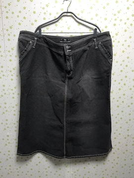 大きいサイズ ウエスト130cm デニムスカート