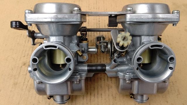 GS400 押しキャブ良品GT380CBX400Z400FX引きキャブ エンジン マフラー < 自動車/バイク