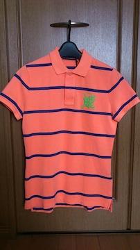 激安79%オフポロラルフローレン、半袖ポロシャツ(新品タグ、橙、L)