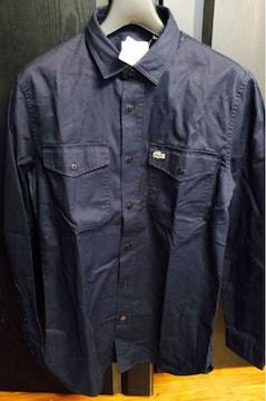 新品未使用タグ付ラコステLACOSTEシャツ39カジュアル1212ロゴm春