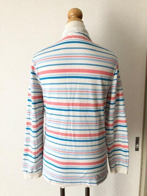 [LACOSTE]★ボーダー柄ポロシャツ・ポケット付き・size[2]★ < ブランドの
