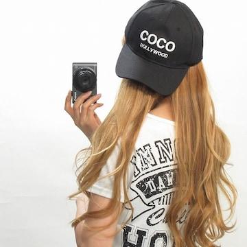 NEW最新COCOロゴ刺繍ローCAPキャップ5007