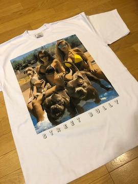 LA直輸入   半袖Tシャツ  doggy&lady    size2XL   白