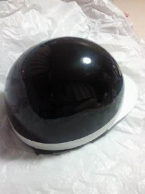 ceptoo 二輪 BIKE バイク 原付 半 ヘルメット ブラック メタリック 箱 フリーサイズ < 自動車/バイク