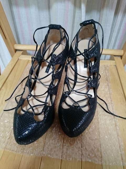 即決★USED★マーキュリーデュオ★レースアップハイヒール靴★サイズ36  < ブランドの