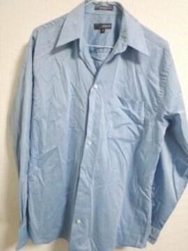 水色光沢薄手シャツ