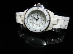 新品◇腕時計◇ホワイト セラミックJ12風/ジルコニア