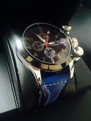 人気色♪爽やかな青★メンズ腕時計クラブフェイス