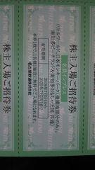 日本モンキーパーク(遊園地部分のみ)株主入場ご招待券2枚