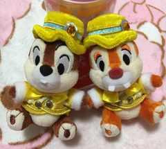 ディズニークリスマス2016☆チップ&デールぬいぐるみバッジ☆