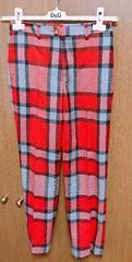 ヴィヴィアンLEDLABEL赤チェックパンツ 38サイズ