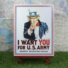 新品【ブリキ看板】Uncle Sam/アンクル・サム I Want You
