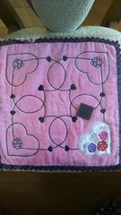 アナスイ タオルハンカチ 新品即決850 ANNA SUI ピンク ハート 薔薇柄
