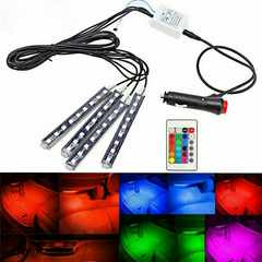 RGB LEDスティック型 9連×4本 室内用 リモコン付き