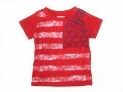 *新品*USA国旗ビンテージ風Tシャツ*レッド*80�a*保育園・遊び着に*