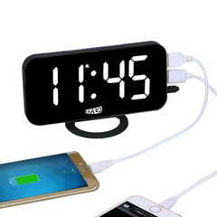 電子LEDデジタルデスククロック 置き時計 ホワイトライト