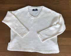 レディース   BACKS  白セーター  フリーサイズ