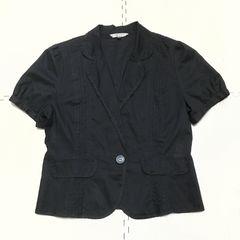 【美品】コットン半袖ブラウスジャケット