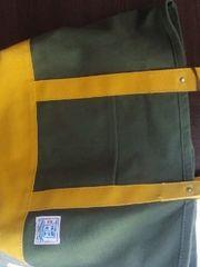 日本製瀬戸内帆布トートバッグ黄色&カーキしまむら大人気