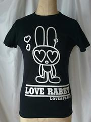 LOVE RABBY★ラブラビ★Mサイズ★ラメプリ♪半袖カットソー★