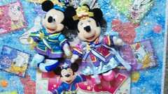 ディズニー TDL 30周年 七夕 彦星 ミッキー/織り姫 ミニー ぬいぐるみバッジ