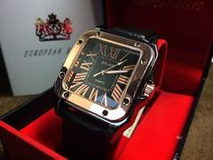 SORRISO★重厚感あるデザイン★メンズ腕時計★金&黒