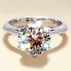特A品 新品 1円〜★送料無料★ 14号 輝くプラチナ ダイヤモンド指輪