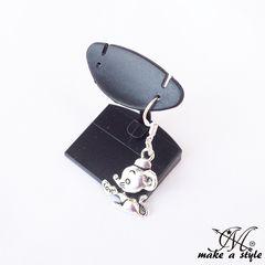 ネズミ LOVE ラブ マウス フック ピアス シルバー925 B系 533
