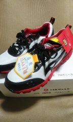 送料込★エアウォーク軽量メッシュ安全靴[白]25cm
