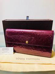 1円 ◆正規品◆ 美品 ◆ ルイヴィトン ヴェルニ 長財布