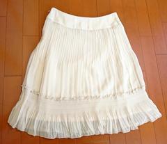 ♪新品♪ふわふわシフォンひざ丈スカート♪w67