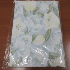 ▽新品未使用品▽ シングル 布団カバー 花柄 ブルー