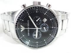4308/エンポリオアルマーニ定価6万円位★ビックフェイスクロノグラフメンズ腕時計